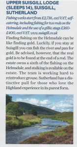 Salmon fishing on the River Helmsdale